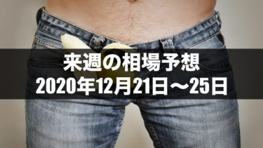 【バイナリーオプション向け】来週の為替相場予想<br>2020年12月21日〜25日